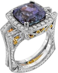 "Dallas Prince Designs - ""eugenio"" Ring With Rare Unheated Tanzanite And Diamonds - Lyst"