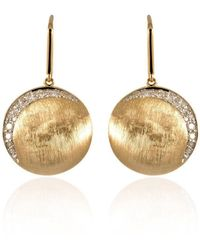Estenza - Cam Gold Diamond Drop Earrings - Lyst