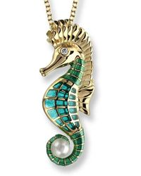 Nicole Barr - 18kt Gold Seahorse Necklace - Lyst