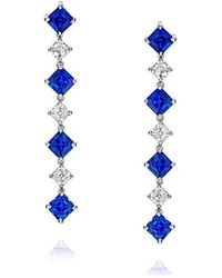 David Gross - Blue Sapphire And Diamond Earrings - Lyst