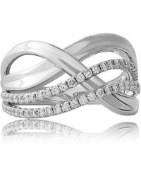 Jooal - Infinity Ring In White Gold - Lyst