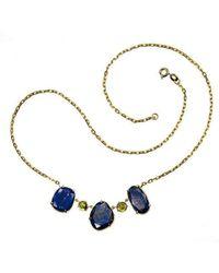 Xanthe Marina - 18kt Gold Lapis Necklace - Lyst