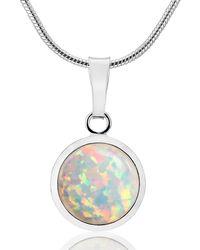 Lavan - Silver Opal Pendant - Lyst