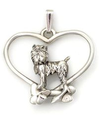 Donna Pizarro Designs Sterling Silver Brussels Griffon Necklace 37Xnd