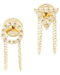 Eshvi - April Diamond Earrings - Lyst