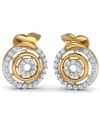 Diamoire Jewels Pave Earrings Handmade with Premium Diamonds and Hand-carved 14kt White Gold rXCJMC9