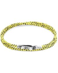 Anchor & Crew - Yellow Noir Liverpool Silver And Rope Bracelet - Lyst