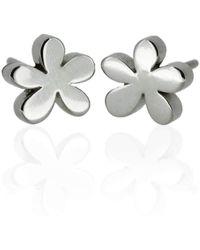 Flawless Jewellery - Silver Daisy Earrings - Lyst