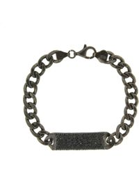 Cosanuova - Essential All Black Id Bracelet - Lyst