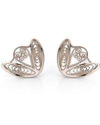 AMMA Jewelry - 18kt White Gold Filigree Amour En Cage Earrings - Lyst