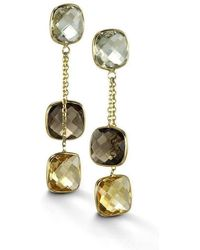 BCOUTURE - Green Amethyst, Citrine, Smoky Topaz Drop Earrings - Lyst