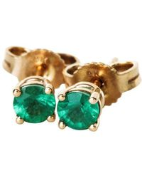 freeRange JEWELS - Emerald Stud Earrings - Lyst