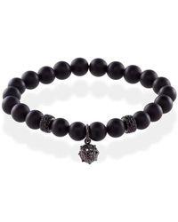MARCOS DE ANDRADE - Spike Onyx Bracelet With Titanium Black - Lyst
