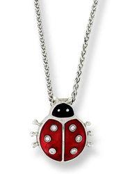 Nicole Barr - Silver Ladybug Necklace - Lyst