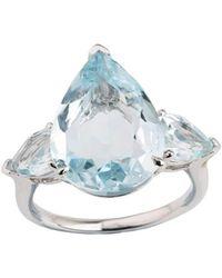 Emily Mortimer Jewellery | Aqua Sky Blue Topaz Pear Ring | Lyst