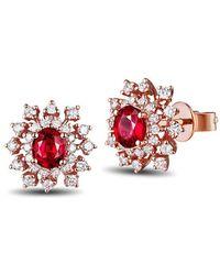 SILVER YULAN - Ruby Diamond Studs - Lyst