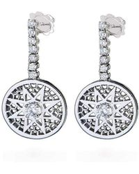 Rosmundo - White Gold Sun Earrings - Lyst