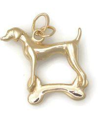 Donna Pizarro Designs - 14kt Yellow Gold Vizsla Charm - Lyst