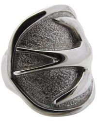 Luke Goldsmith - Silver Womens Identity Peacekeeper Ring - Lyst