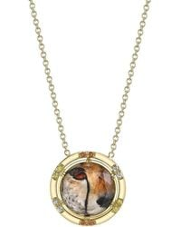 Spencer Fine Jewelry - Cheetah Face Spencer Portrait Necklace - Lyst