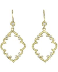 Penny Preville Diamond Pavé Round Earrings on Bezel French vTYdwC