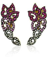 Niquesa Fine Jewellery - Venice Pulcinella Ruby Earrings - Lyst