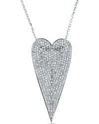 Cosanuova - Long Heart Necklace - Lyst