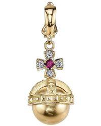 Cynthia Bach - Orb Charm With Diamonds And Rubies - Lyst