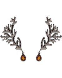 Isa Bagnoli - Dark Coral Earrings - Lyst