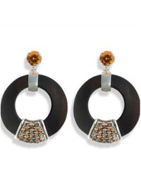 Hissia - Orange Luz Earrings - Lyst