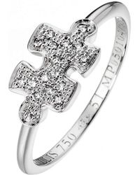 Akillis - Mini Puzzle White Gold With Diamonds Ring - Lyst