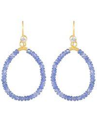 juniimjuli - Gold & Sapphire Azur Drop Earrings   - Lyst