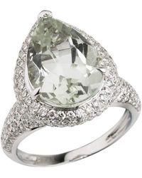 Emily Mortimer Jewellery - Aqua Prasiolite And Diamond Ring - Lyst