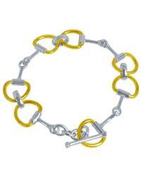 Pegasus Jewellery | Gold Snaffle Bracelet | Lyst