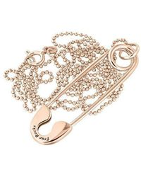 True Rocks - Medium Rose Gold Plated Silver Safety Pin Pendant - Lyst