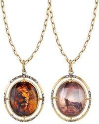 Spencer Fine Jewelry - Lion/cheetah 2-sided Spencer Portrait Pendant - Lyst