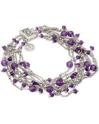 Mishanto London - Rio Silver Amethyst Bracelet - Lyst