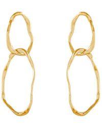Deborah Blyth Jewellery - Double Ripple Gold Earrings - Lyst