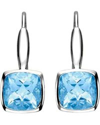 Isaac Westman - White Gold Blue Topaz Earrings - Lyst