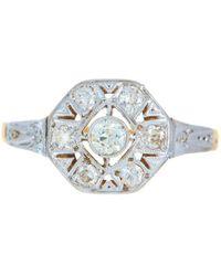 Alexis Danielle Jewelry - Art Deco Platinum 18kt Yellow Gold Diamond Ring - Lyst