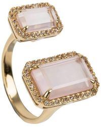 Emily Mortimer Jewellery - Electra Rose Quartz Ring - Lyst