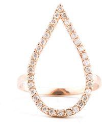 Oh my Christine Jewelry - Tear Drop Shape Diamond Pave Ring - Lyst
