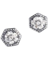 M's Gems by Mamta Valrani - Radiance Stud Earrings With Diamonds - Lyst