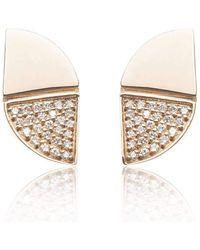 Xavier Civera - Rose Gold Glamorous Diamond Earrings - Lyst