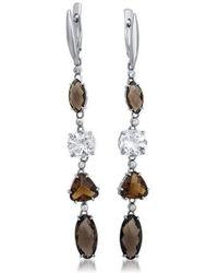Drukker Designs | Sterling Silver Smoky Quartz Earrings | Lyst