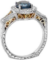 """Dallas Prince Designs - """"milano"""" Blue Sapphire And Diamond Ring - Lyst"""