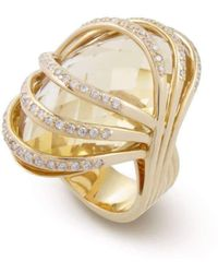 Chavin Couture - 18kt Yellow Gold Ring With Citrine Oval - Lyst