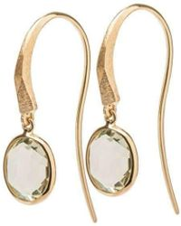 Marmalade Fine Jewellery - 18kt Yellow Gold Prasiolite Spectacle Set Drop Earrings - Lyst