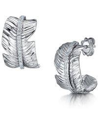 ROX - Diamonds and Thrills - Tiki Diamond White Gold Earrings - Lyst