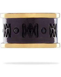 MARCOS DE ANDRADE - Classic Mda Band With 18kt Gold - Lyst